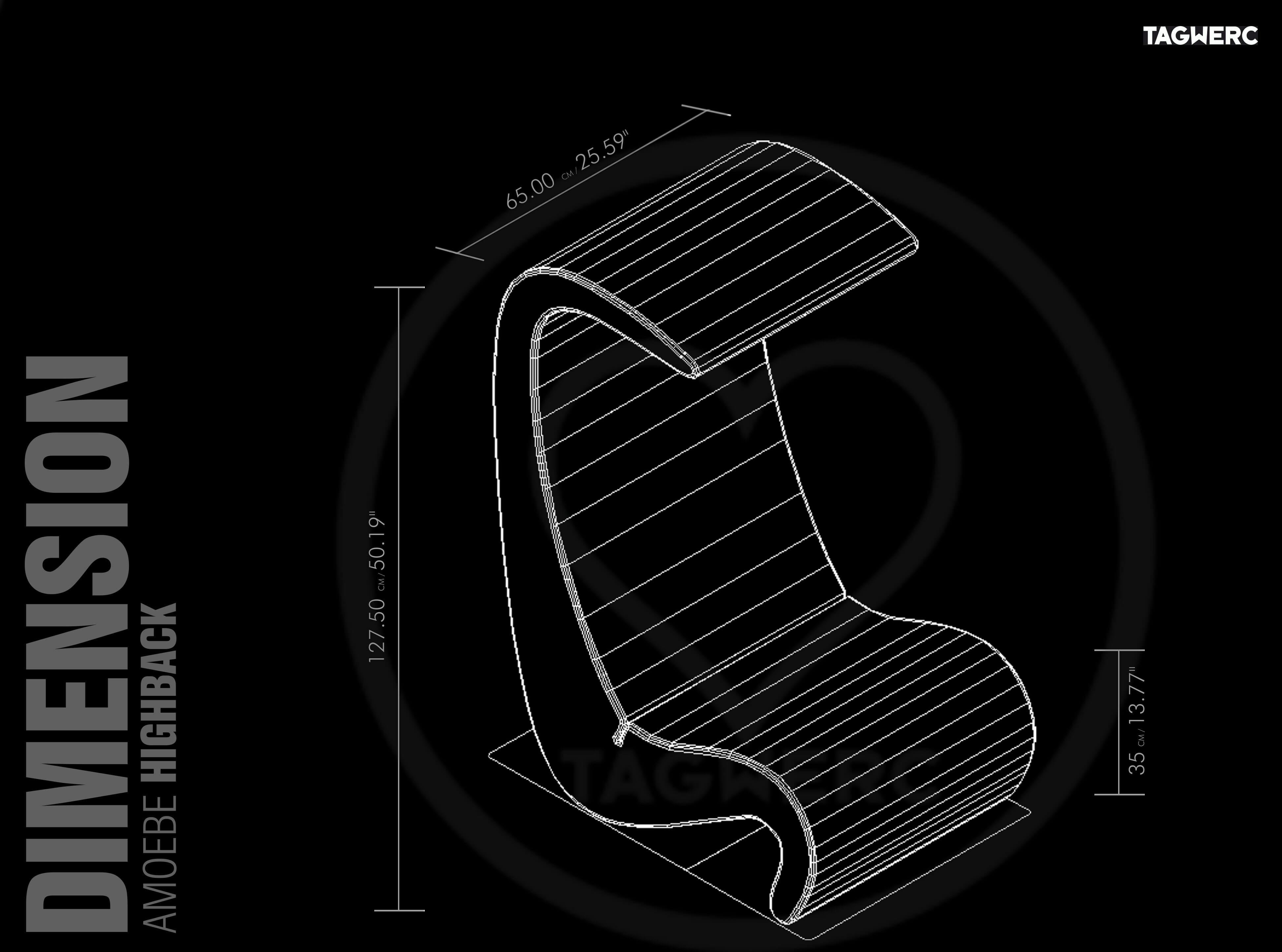Vitra Amoebe Highback Lounge Chair Fabric Tonus Verner
