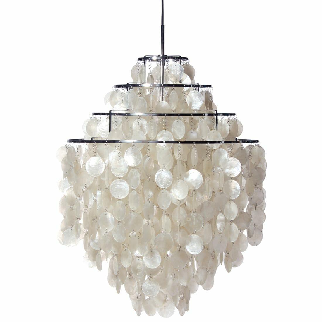 Verpan Fun 0dm Pendant Light Seashell Lamp Verner Panton