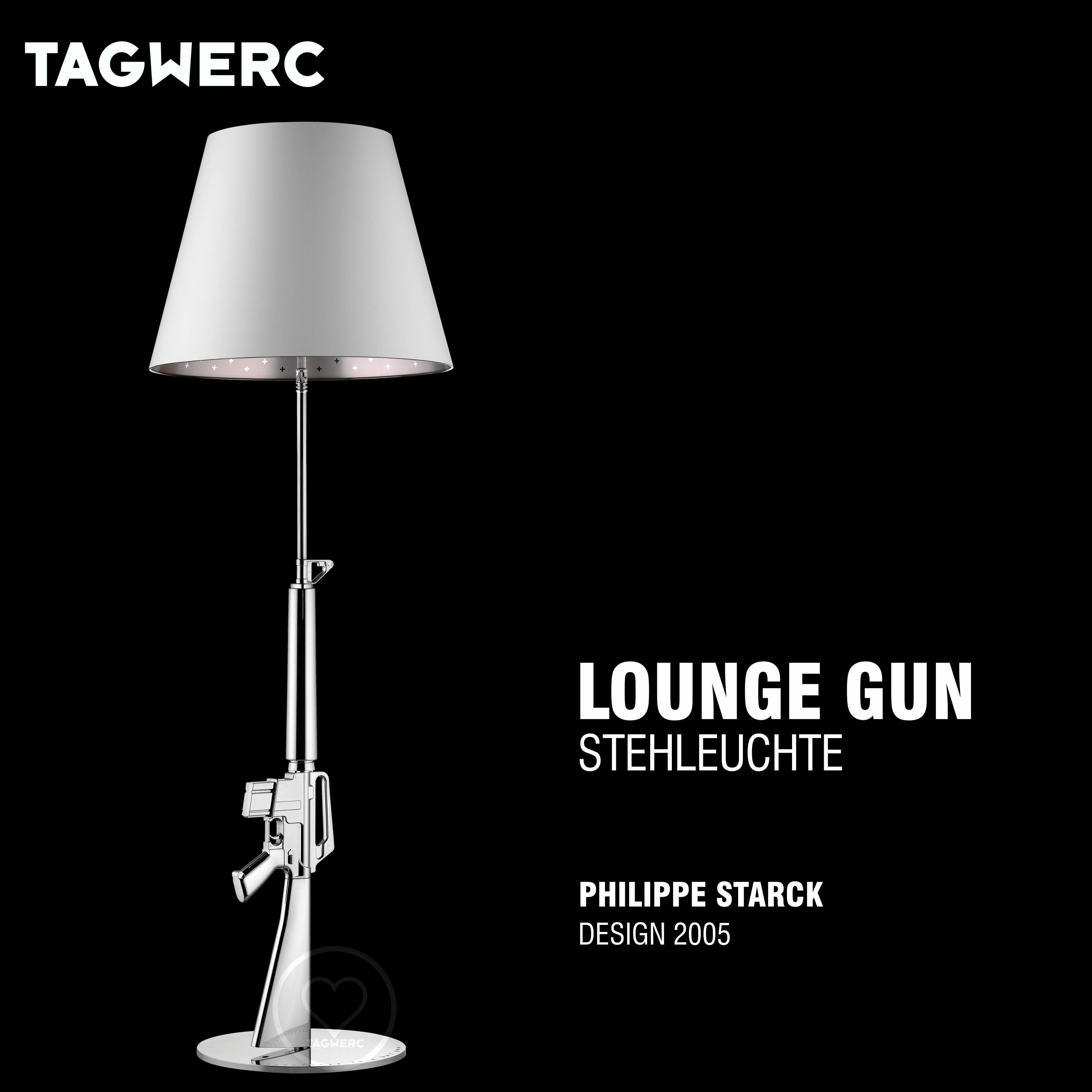 Flos Lounge Gun Stehleuchte Verchromt Chrom Philippe Starck