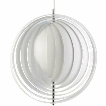 Verpan Moon Lamp Pendant Light White, Verner Panton Lamp Moon