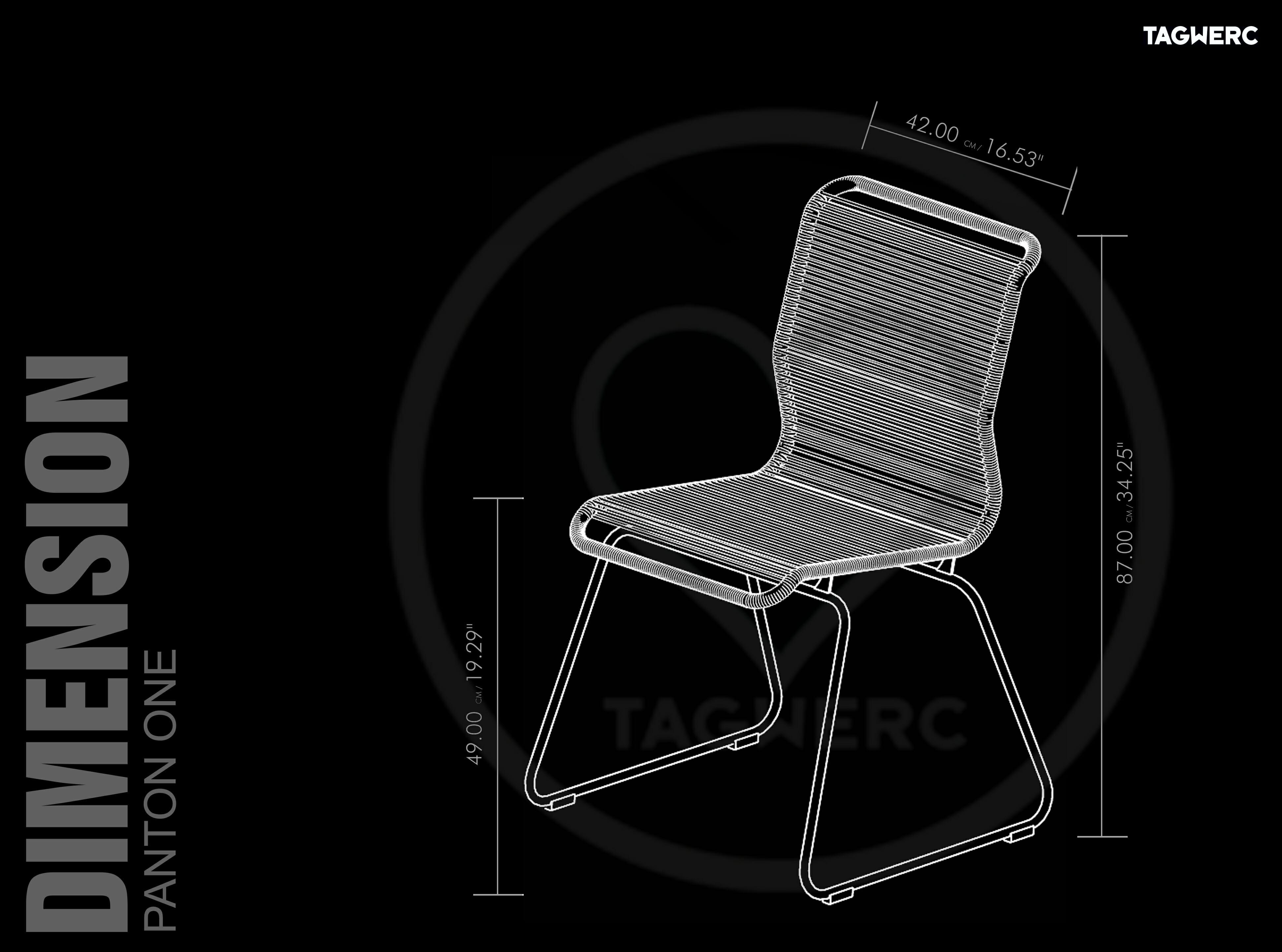 Montana Panton E Chair Plastic Cord Verner Panton